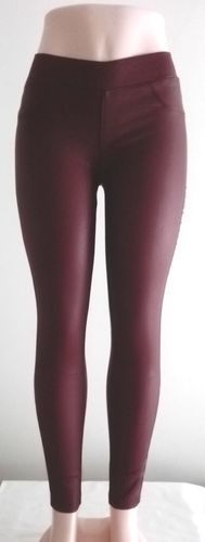 Legging de Cuero Granate/Wine